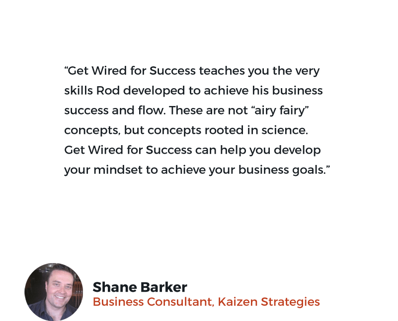 Shane Barker's testimonial for Get Wired for Success
